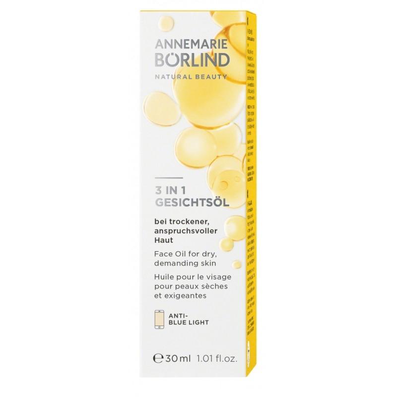 3 IN 1 Facial Oil for dry, demanding skin - näoõli kuivale ja nõudlikule nahale, 30ml